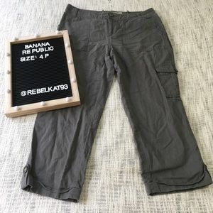 Banana Republic Martin Fit Cargo Green 4P